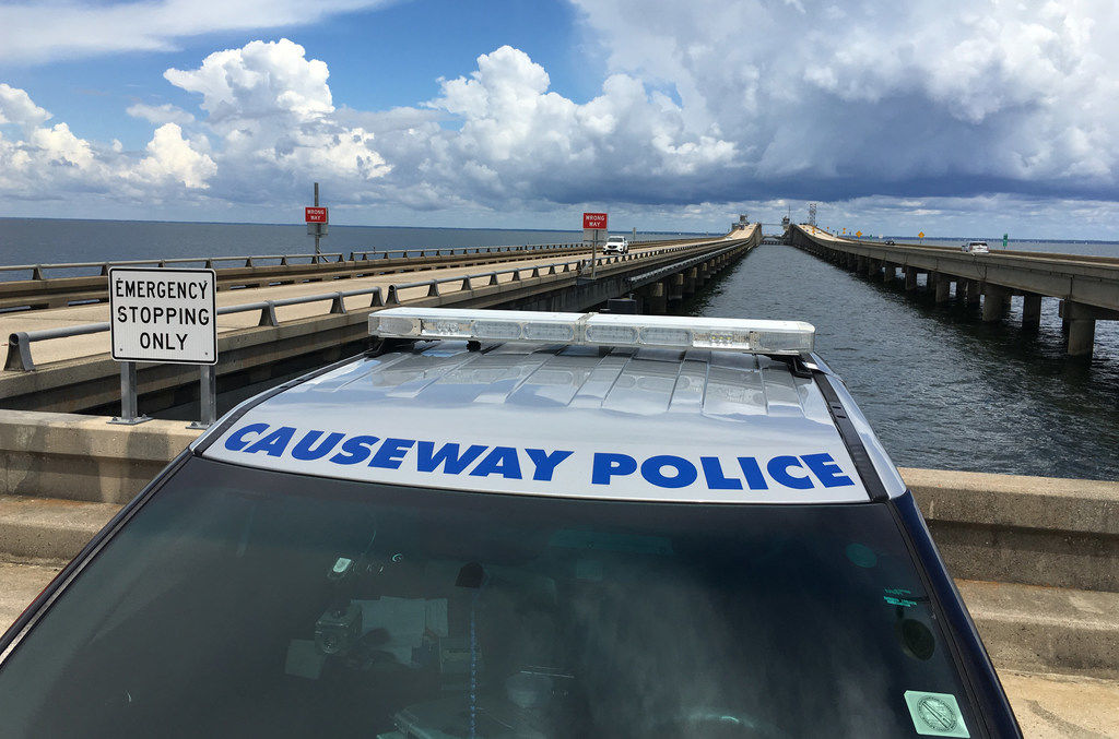Southbound Causeway reopens after truck goes in water and 2 rescued
