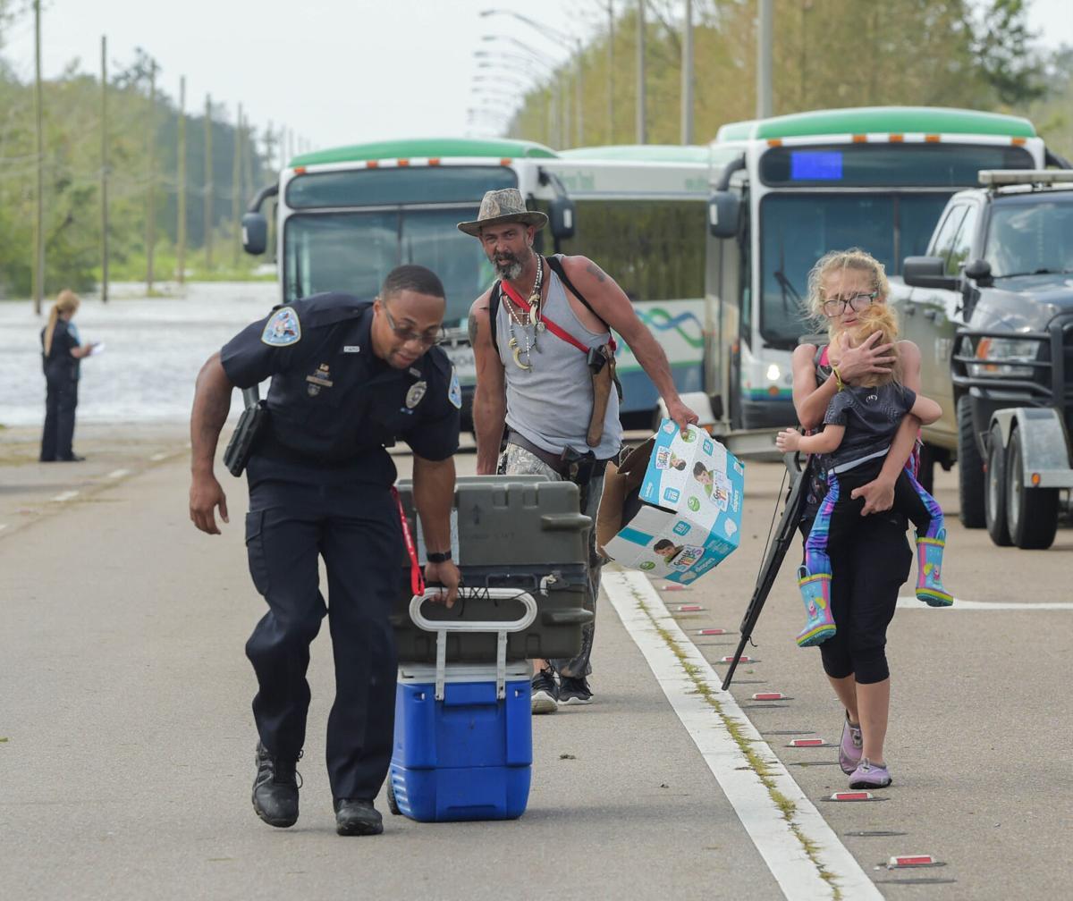 Hurricane Ida evacuees from Lafitte