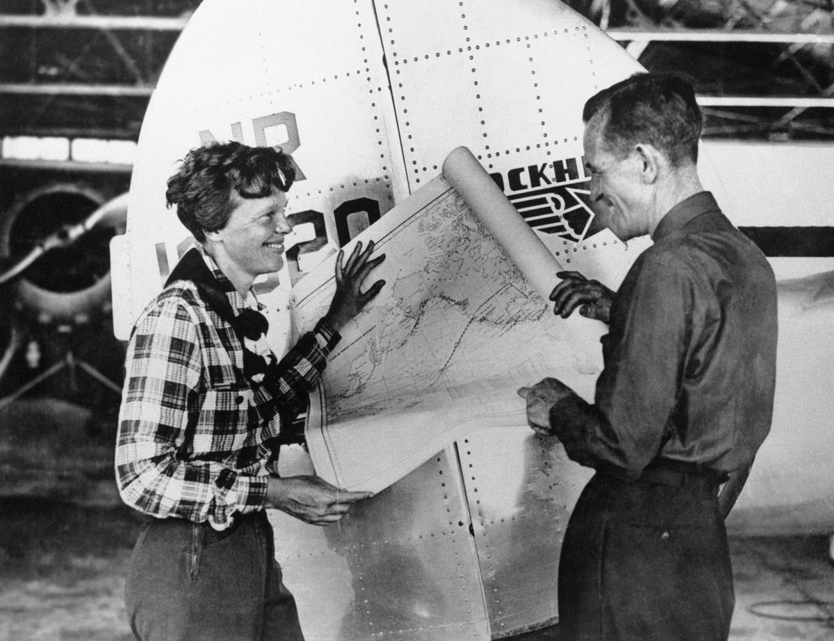 Amelia Earhart's 'secret' flight to New Orleans