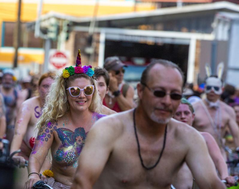 At World Naked Bike Ride, French Quarter cyclists whipped by 'dominatrix' with riding crop