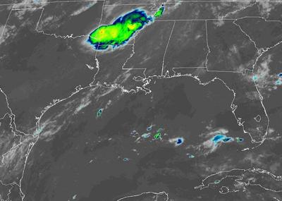 Remnants of Barry satellite image 071619