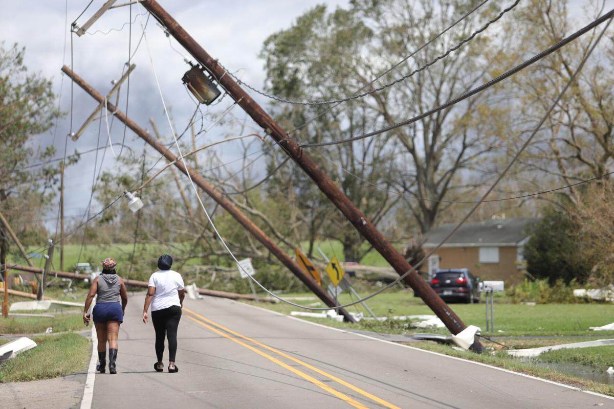 Hurricane Ida damage in Hahnville