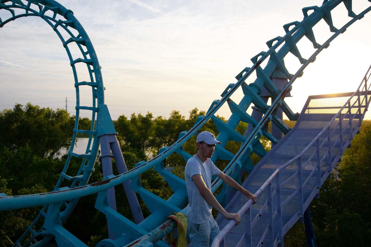 Still photo from Jake Williams' film 'Closed For Storm,' about the defunct Six Flags amusement park in New Orleans