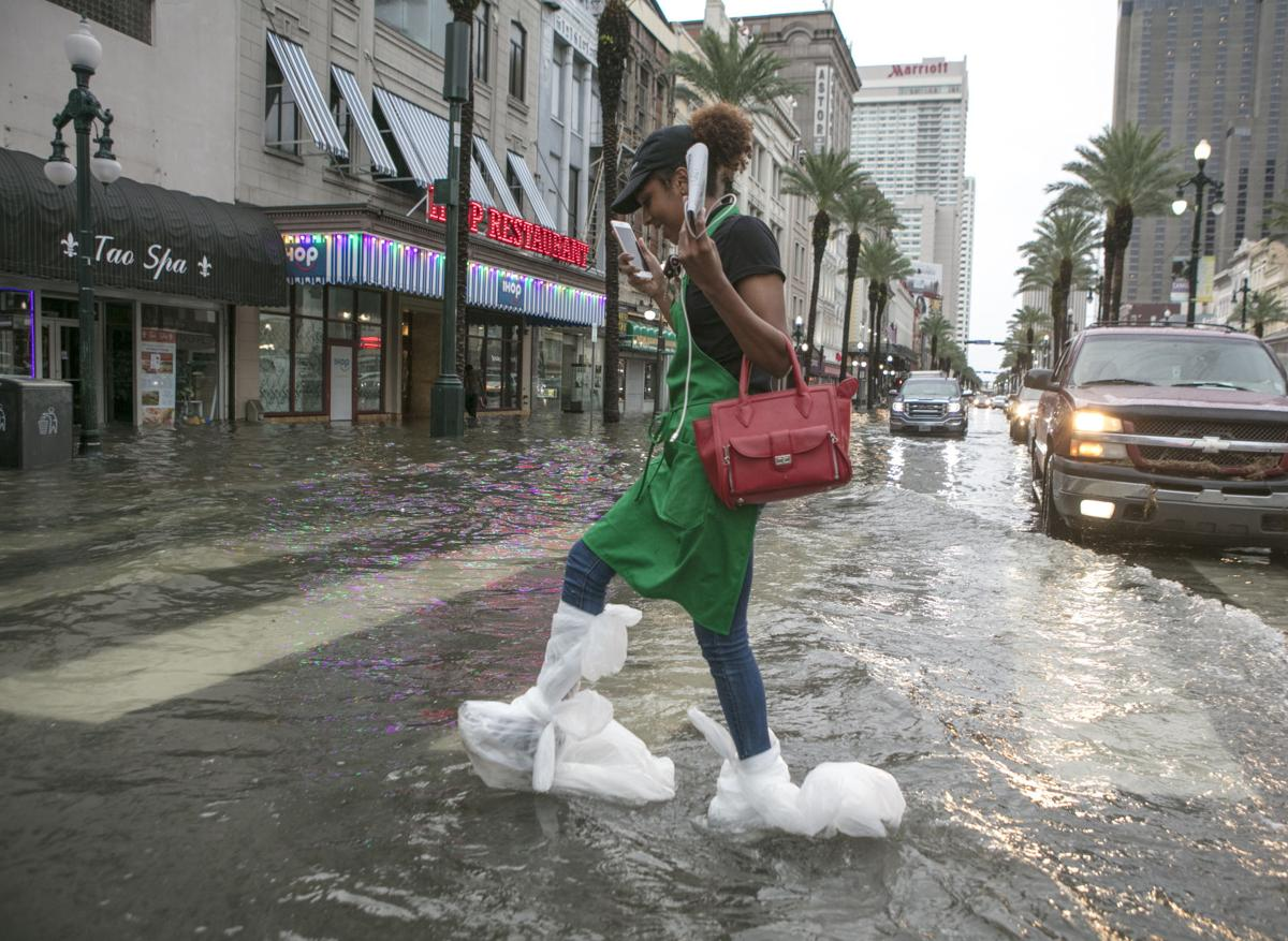 Heavy rain in New Orleans