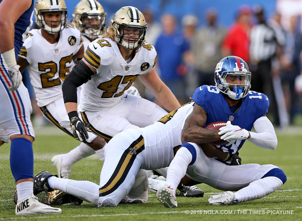 low priced b1e49 64c83 Photos: New Orleans Saints take on New York Giants in color ...