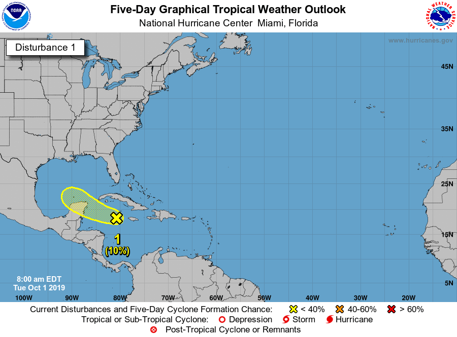 Tropical weather gulf of mexico 100119 7am