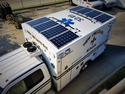 New Orleans EMS solar panel ambulance