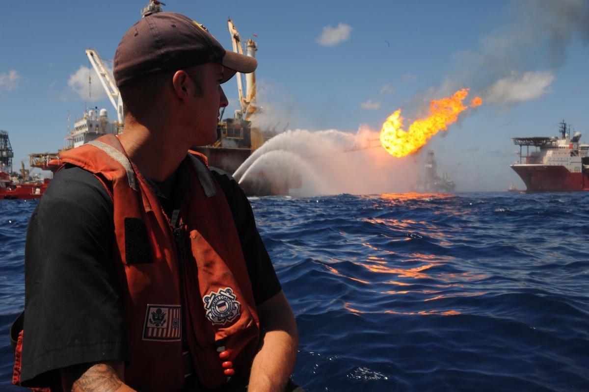 Coast Guard member during Deepwater Horizon