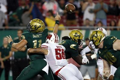 Wisconsin-Captain Baun Football