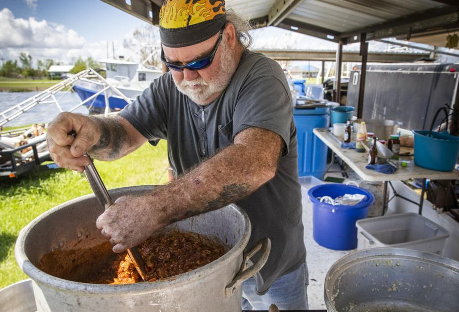 In this bayou town, Louisiana fishermen team up to feed neighbors in need after Ida
