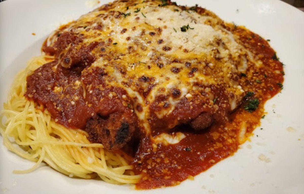 Spaghetti and meatballs on Monday at 615 Home of Da Wabbit in Gretna
