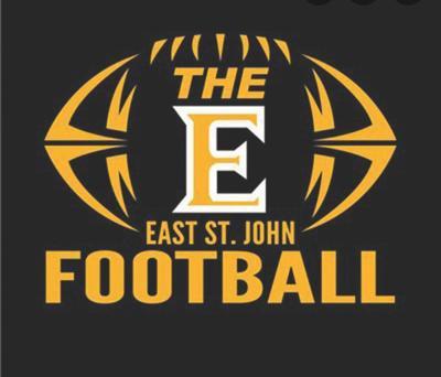 East St. John football logo