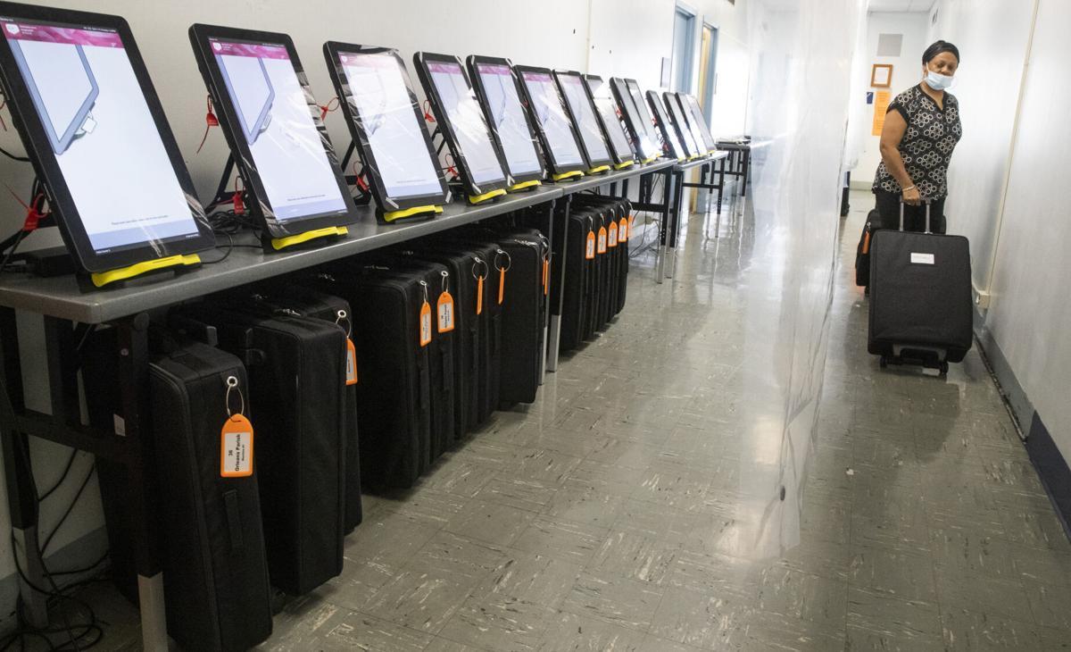 city hall voting machines