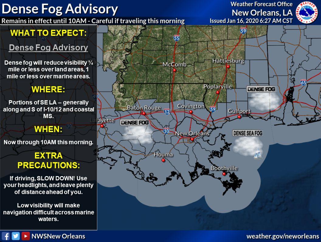 Dense fog advisory jan 16