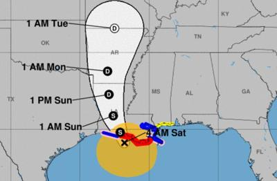Tropical Storm Barry 10 pm track 071219