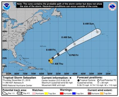 Tropical Storm Sebastien