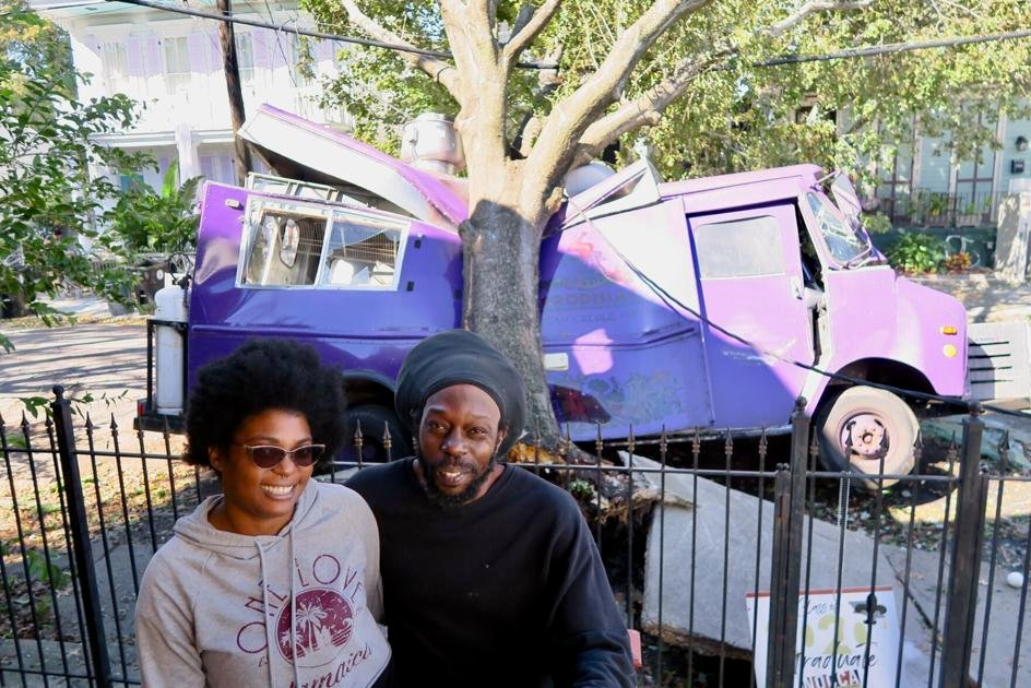 Hurricane Zeta crushes New Orleans couple's food truck, but not their hopes