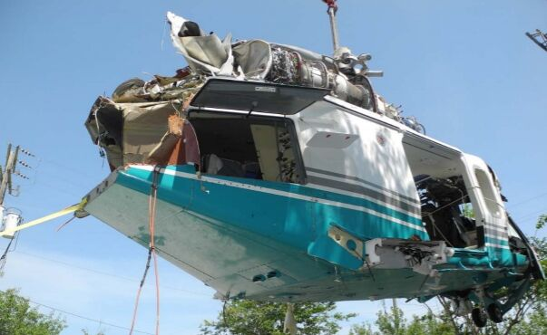 July 4, 2019, helicopter crash wreckage