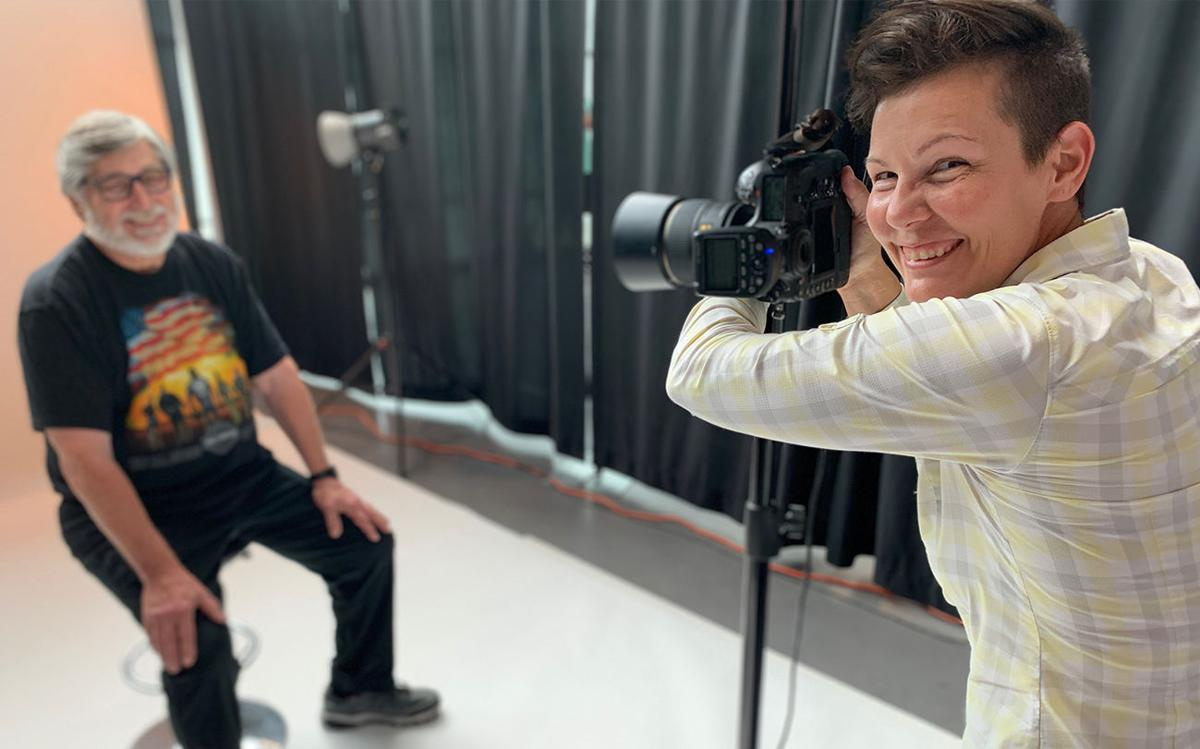 Former combat photographer Stacy Pearsall