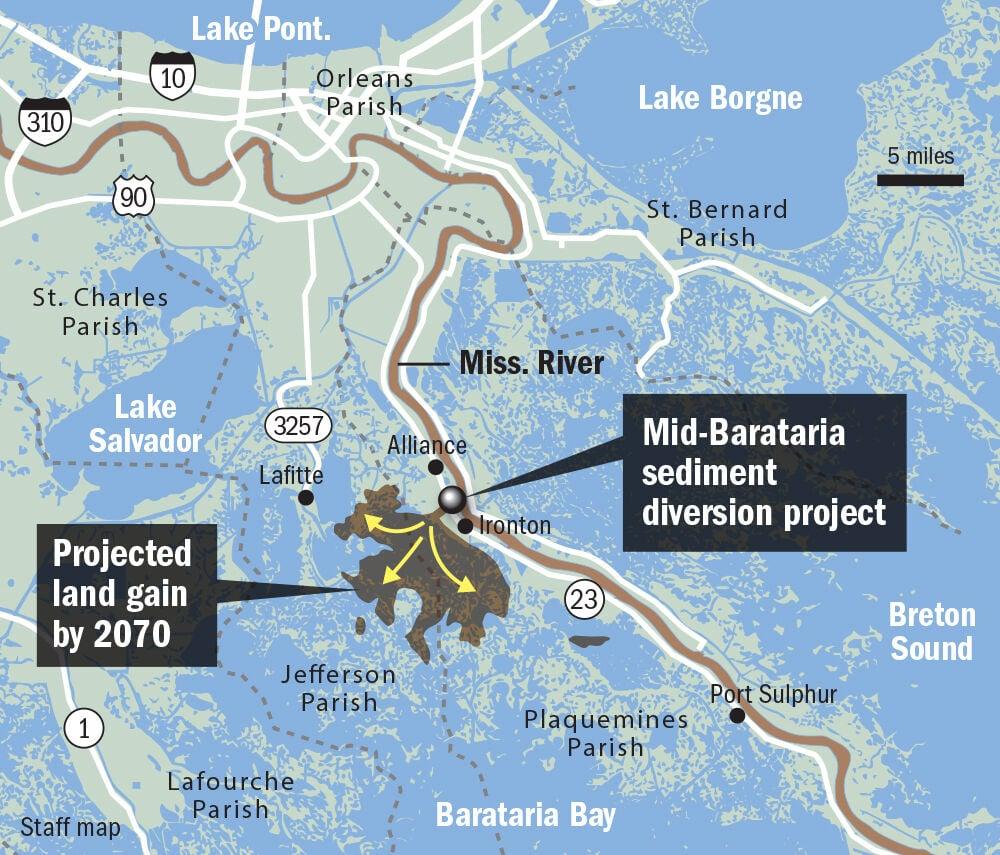 Mid-Barataria diversion map