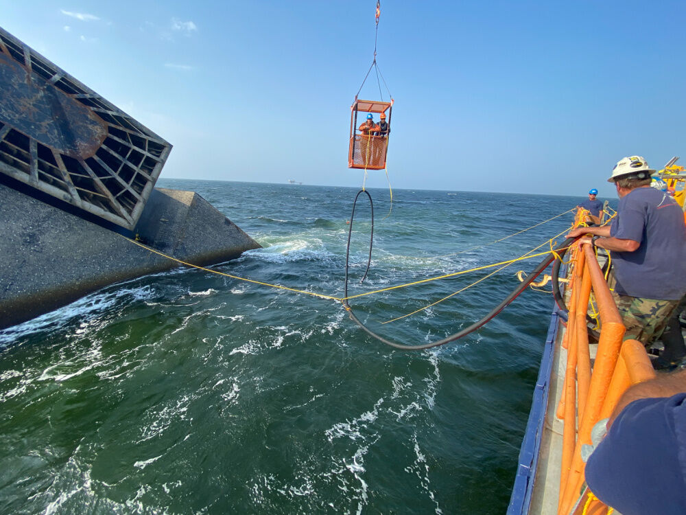 U.S. Coast Guard images of Seacor Power salvage, May 5, 2021