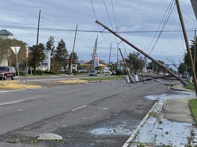 Damage on Williams Blvd. in Kenner, Aug. 30, 2021