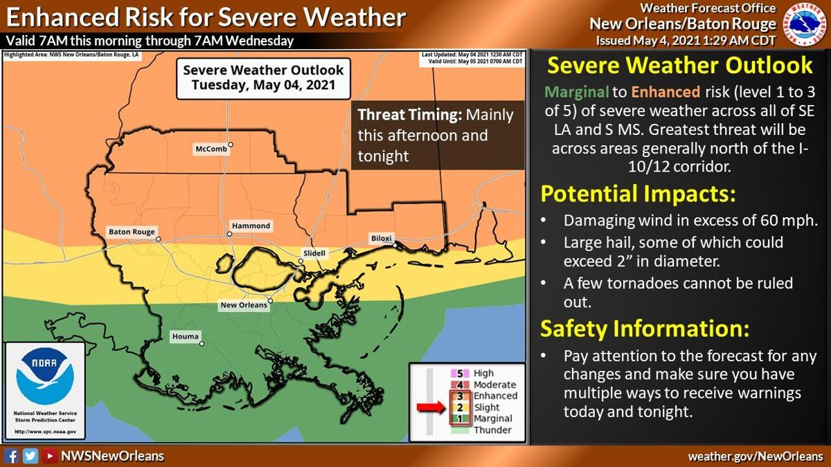 Severe weather threat New Orleans