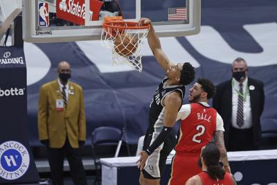 Spurs Pelicans Basketball