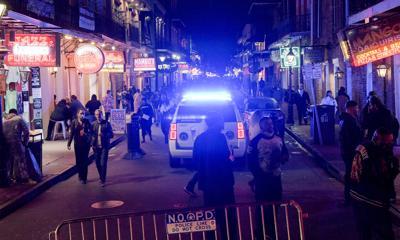New Orleans police on Bourbon Street
