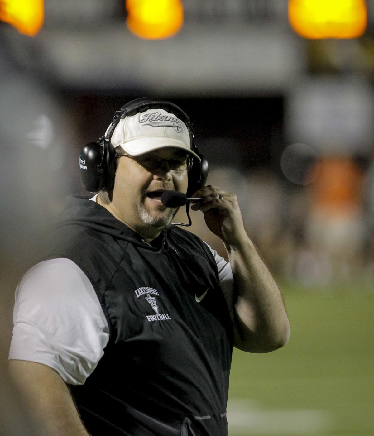 Lakeshore football coach Craig Jones