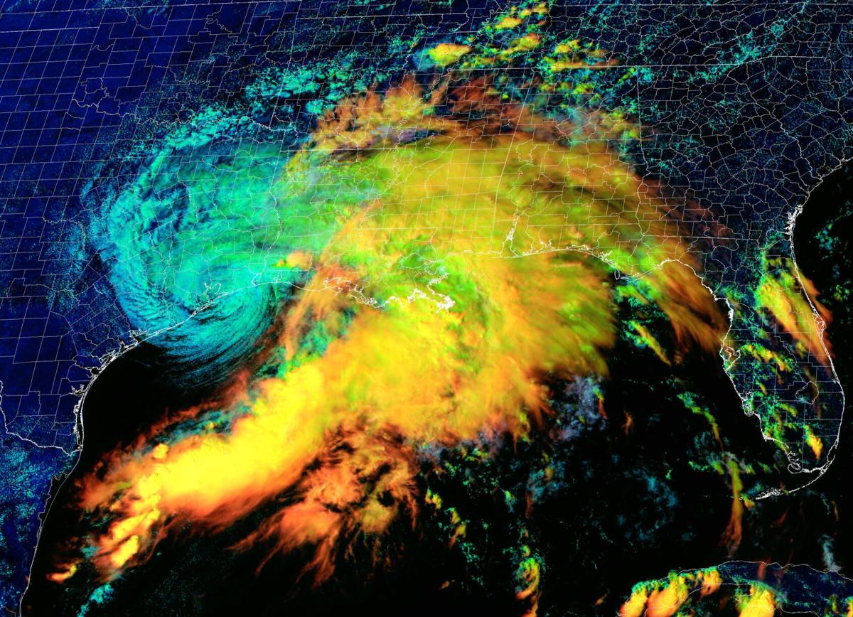 NOAA satellite image of Nicholas 2pm Sept 14