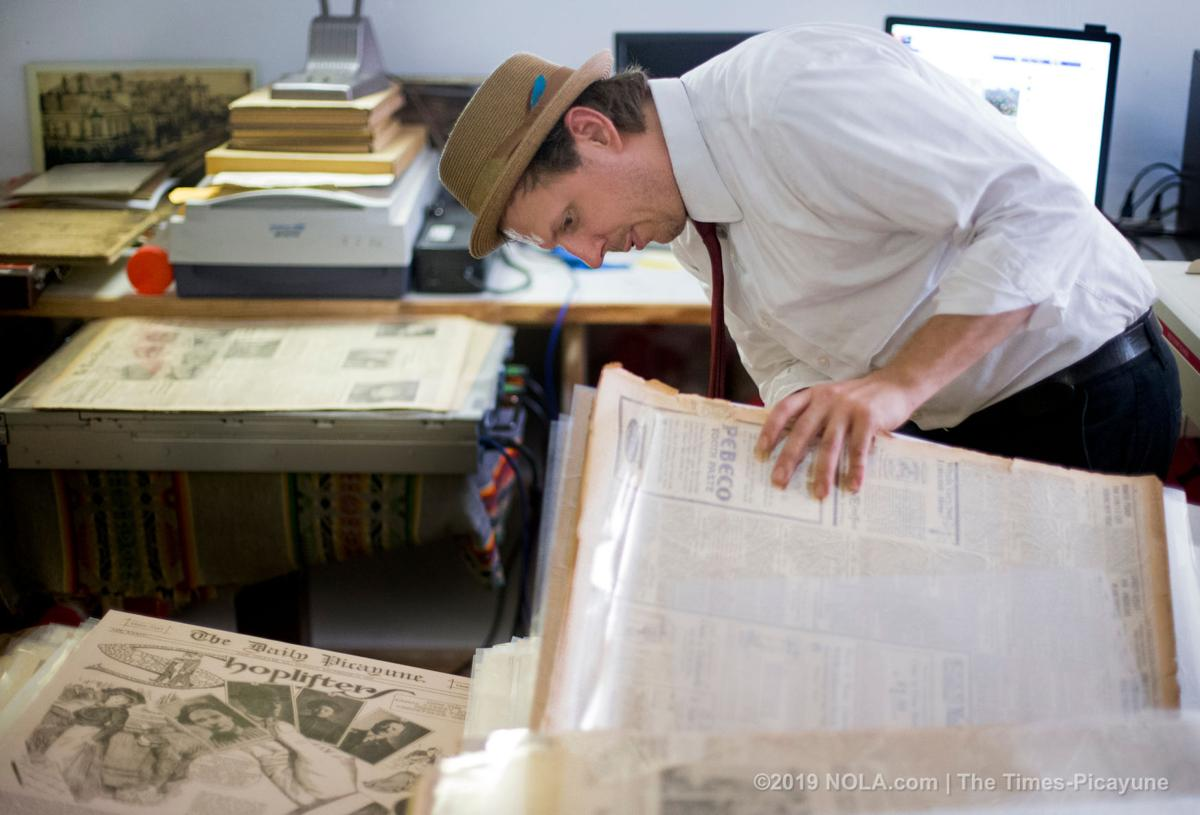 New Orleans collector preserves decades of the city's newspapers