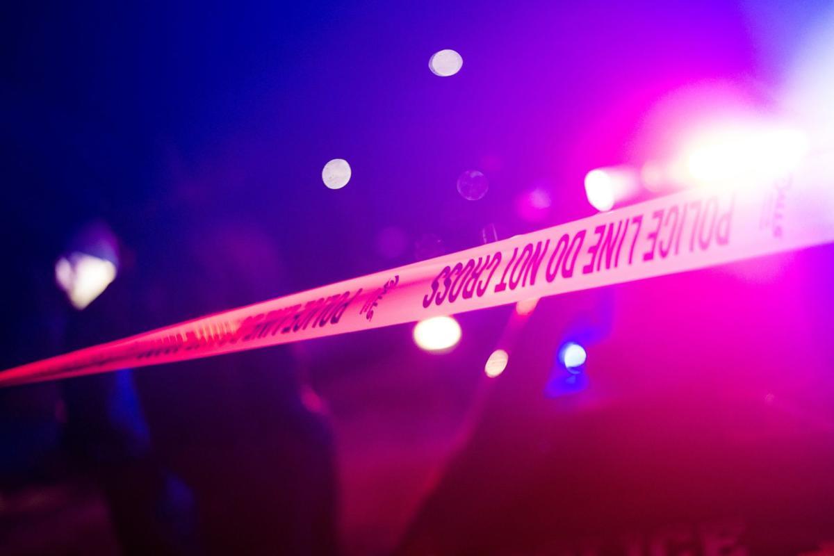 Police crime scene tape night crime file