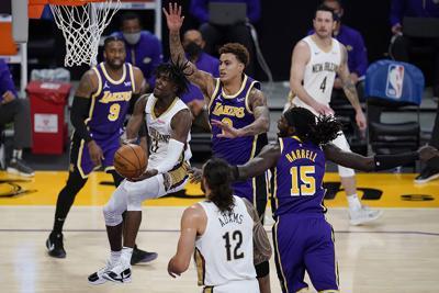 Pelicans Lakers Basketball