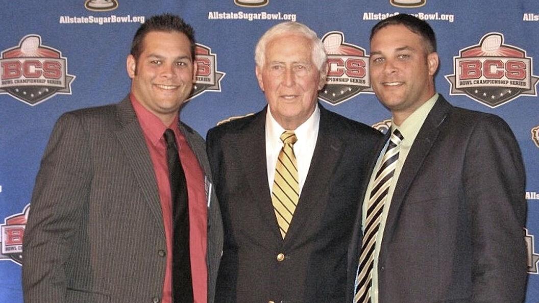 Glenn and Greg Salter with Grandpa Jack