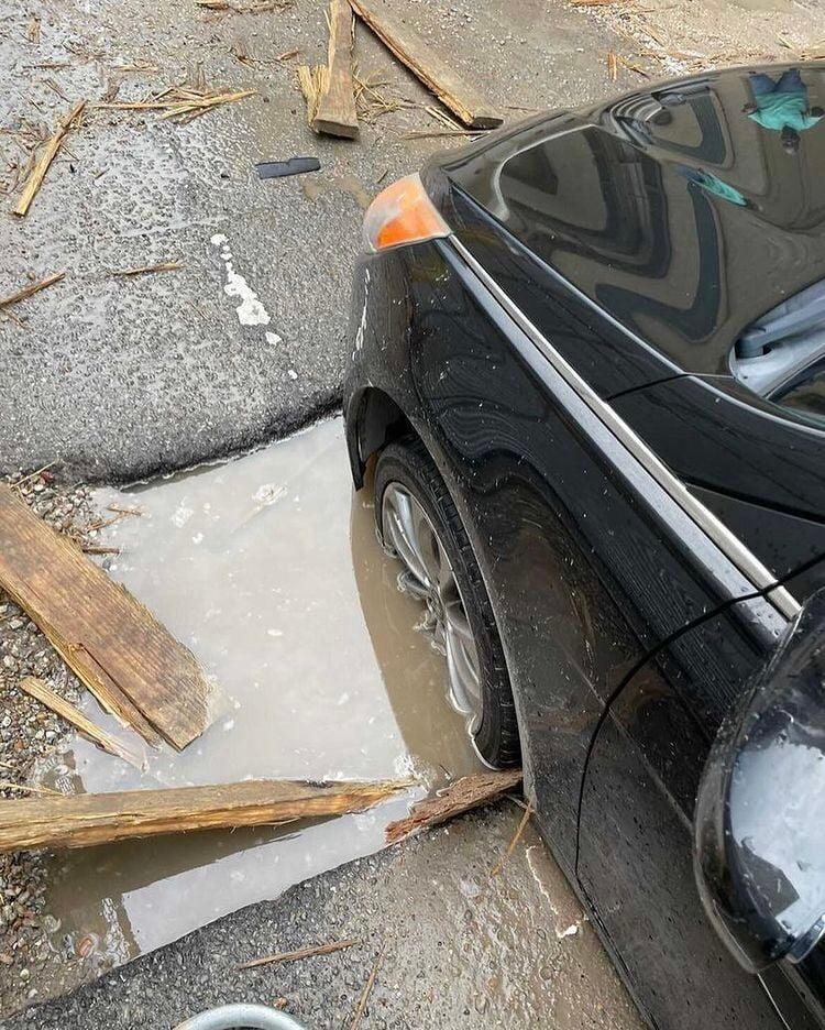 James Carville pothole