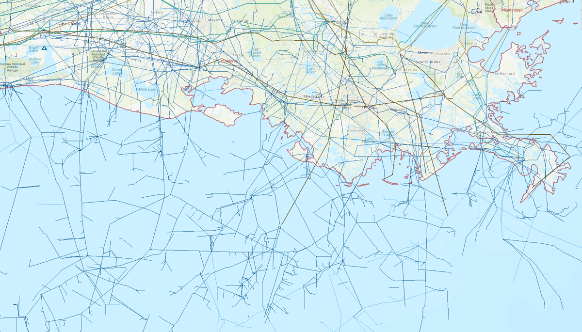 Offshore pipelines in the Gulf of Mexico