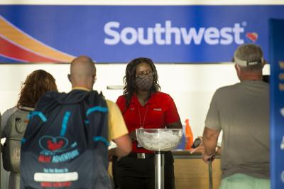 File photo of Southwest ticket counter