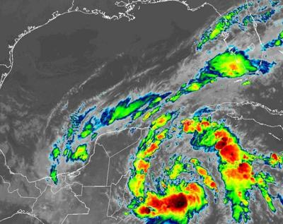 tropical depression in Caribbean 10am Friday