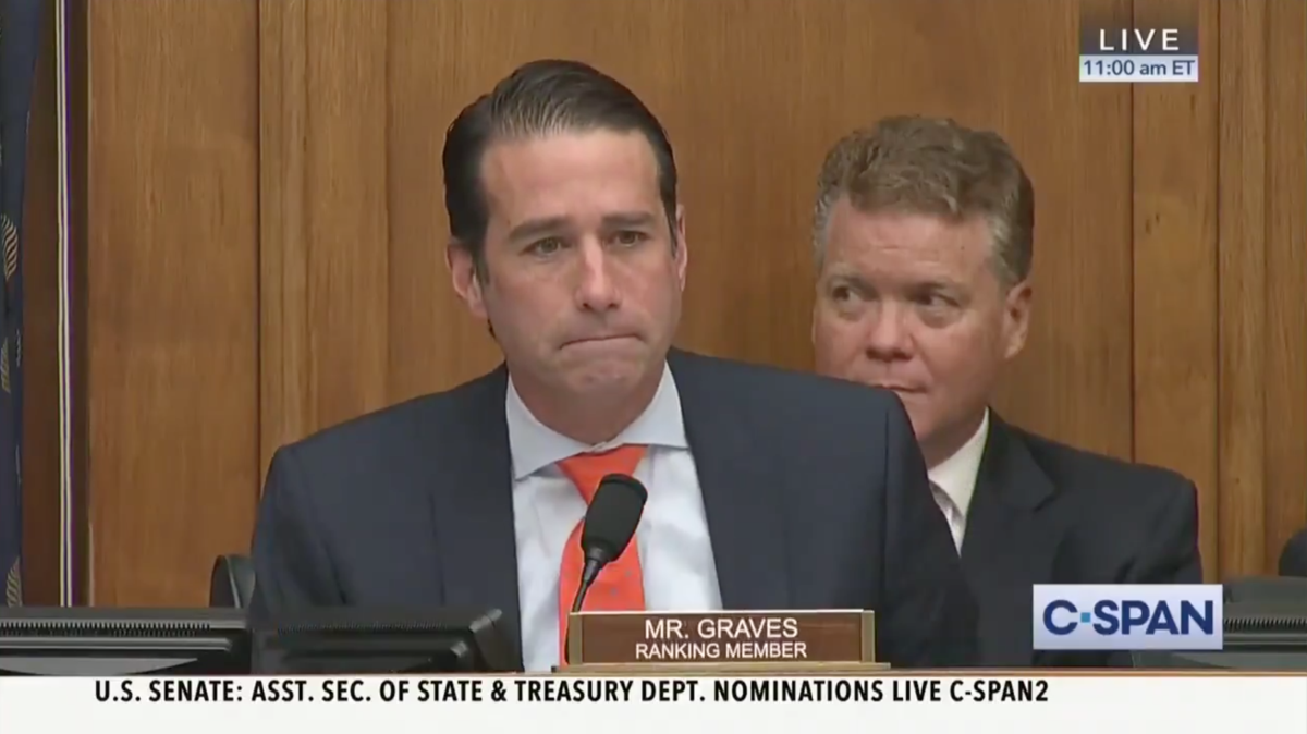 Rep. Garret Graves banters with Greta Thunberg