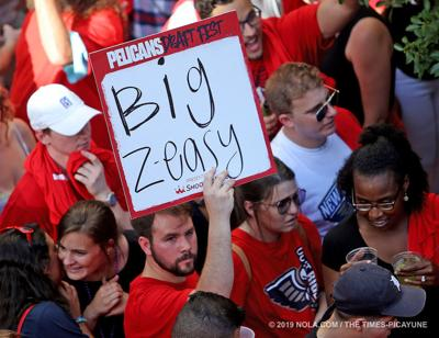 New Orleans Pelicans fans celebrate pick of Zion Williamson: See photos from Fulton Alley