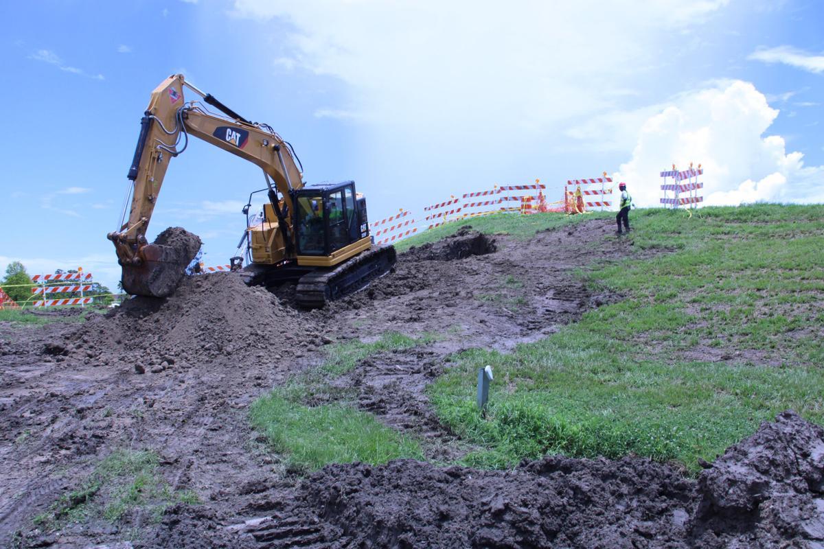 Lakefront sinkhole repair