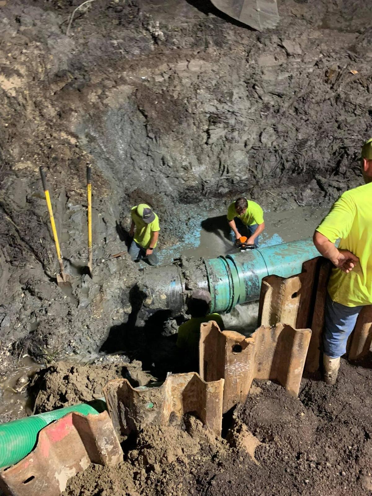 St. John water line repairs