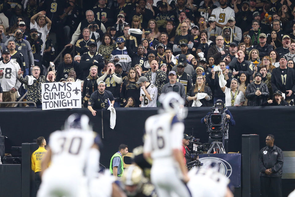 Saints fans noise brings down the roof (sorta) in NFC Championship