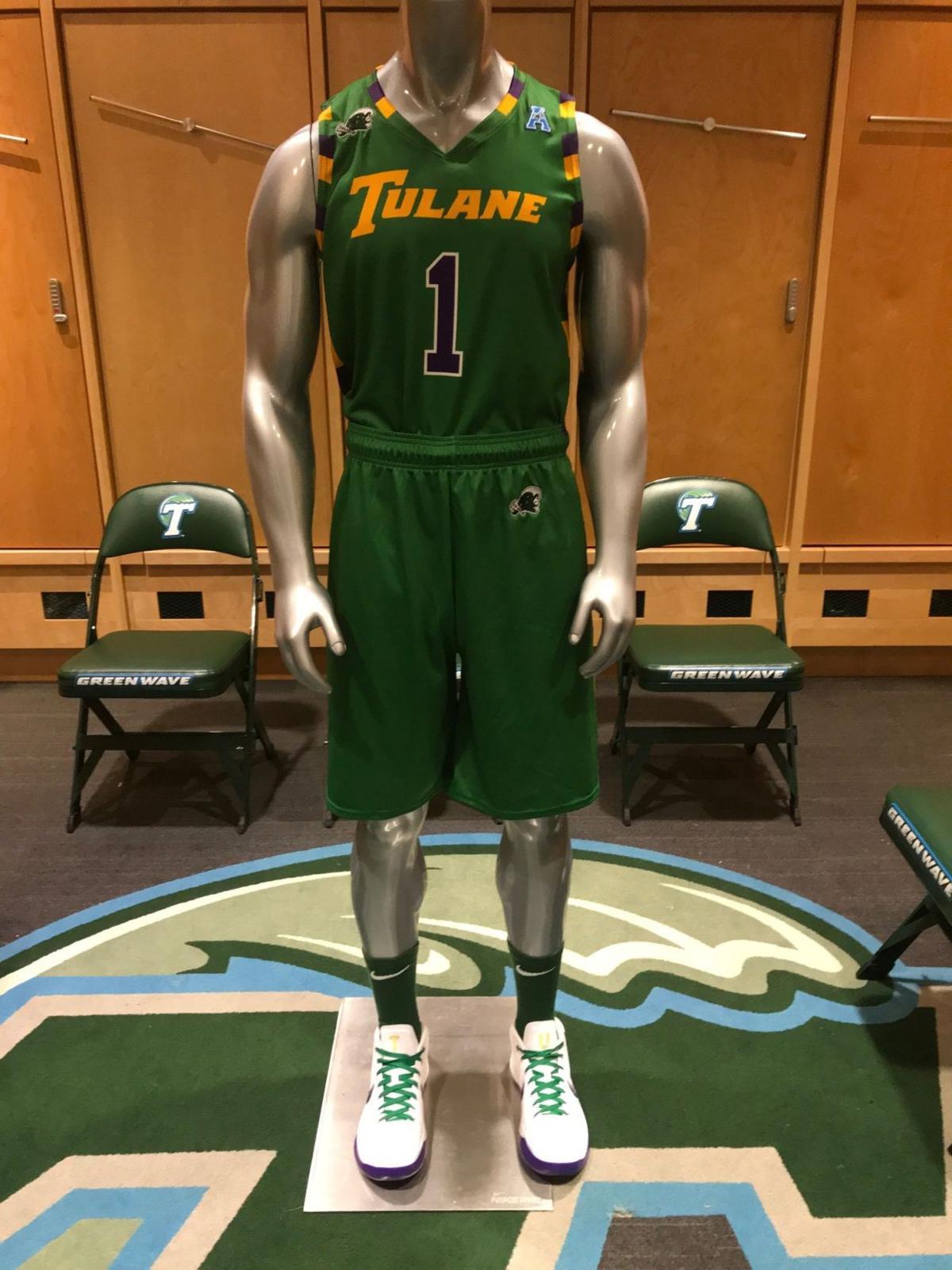 sports shoes deead 71273 Tulane unveils Mardi Gras-themed basketball uniforms ...