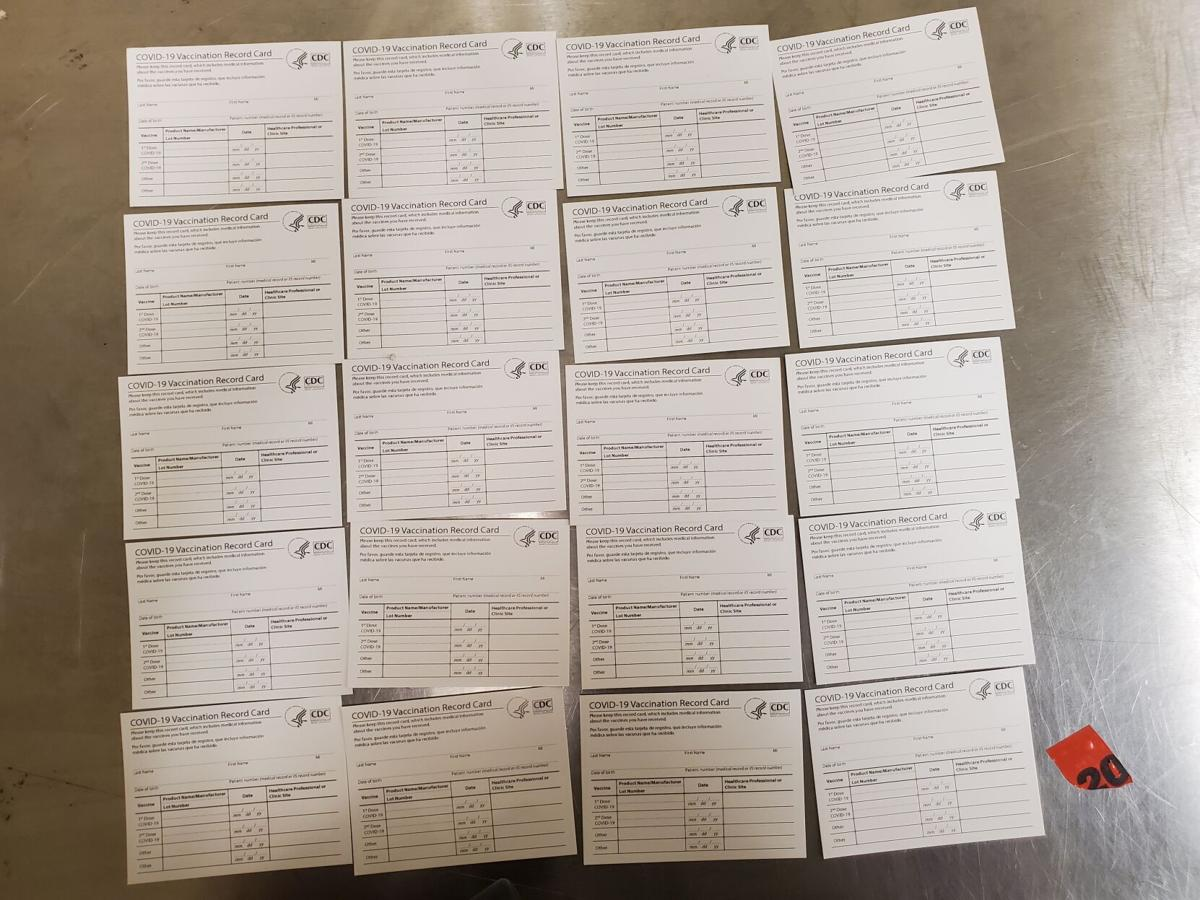 Counterfeit COVID vaccination cards