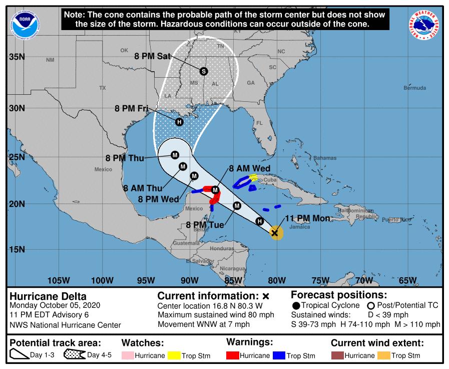 tropics update 10 p.m. oct 5