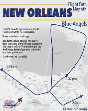 Blue Angels Add North Shore To Wednesday S Flyover Of New Orleans See New Route Coronavirus Nola Com