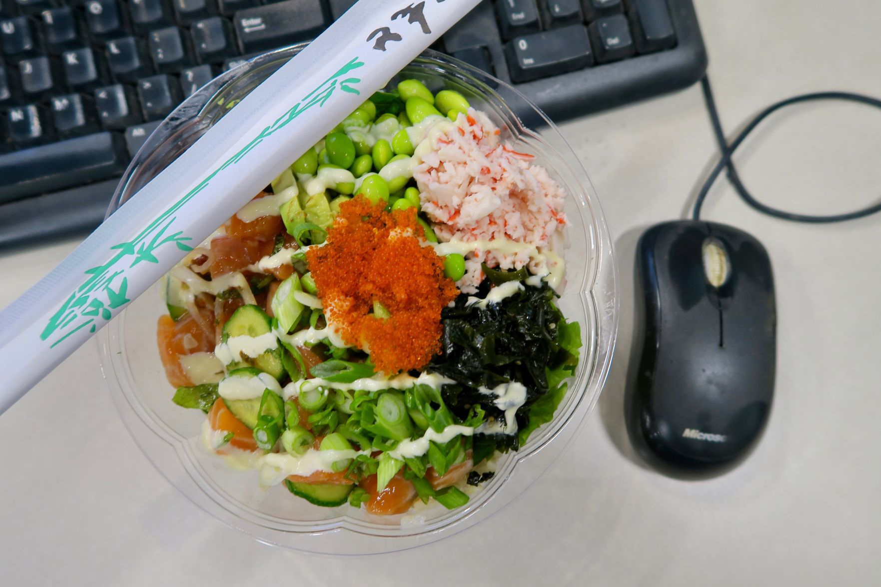 Passionate poke in office