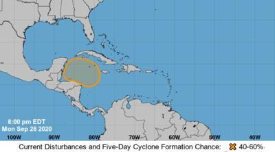 National Hurricane Center tropical outlook, Sept. 28, 2020